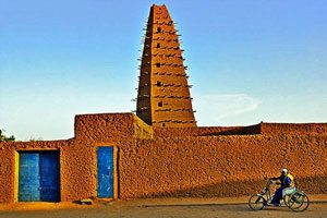 Agadez mosque (Songhai, 1515, in Niger)