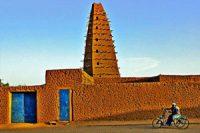 Agadez mosque (Songhai, 1515, in Niger)