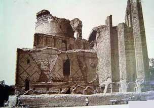 ruins of a big building
