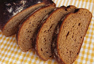 brown bread loaf, sliced