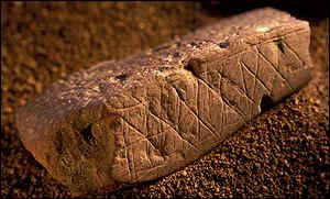 Early art from Blombos Cave, South Africa (ca. 80,000 BC)
