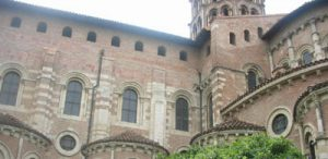Buttresses of the church of St. Sernin in Toulouse (1100 AD)