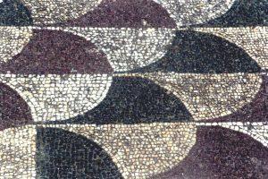 A mosaic floor from the Roman baths of Caracalla