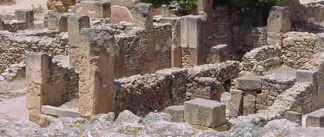 Punic houses in Carthage (146 BC)