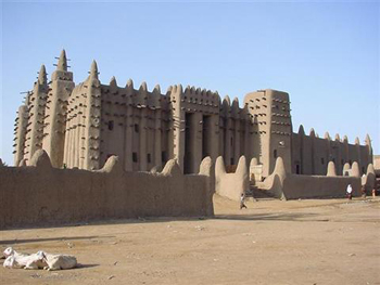 Mosque at Djenne, Mali, built about 1200 AD (around the time of Sundiata)