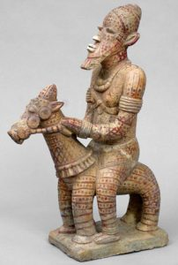 A West African man on a horse (Djenne, ca. 1300 AD)
