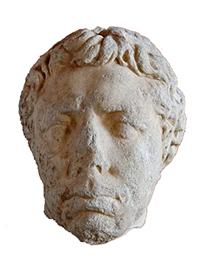 Juba II - stone head