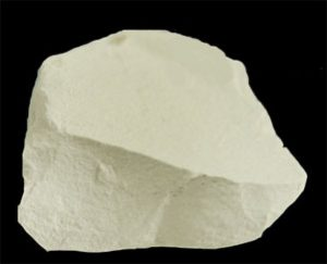 Kaolin clay - looks like a white rock