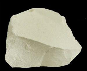 Kaolin clay - looks like a white rock