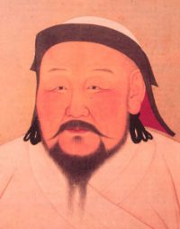 Kublai Khan - Asian man with hat and thin mustache