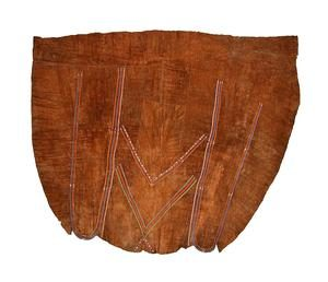 Brown leather cape with decorations