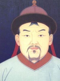 Asian man with thin mustache and hat