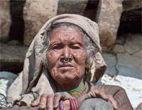 A Nepali woman - see how her eyes look forward?