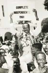 Julius Nyerere at a demonstration