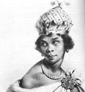 drawing of a young black woman