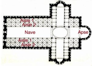 Floor plan of Pisa Cathedral
