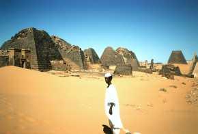 ruined stone pyramids