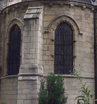 Buttress of St. Germain des Pres (Paris, 1100s AD)