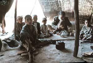 Modern tent in Afghanistan, near Herat