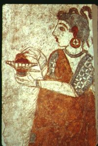 Fresco painting from Thera, Greece (about 1600 BC)