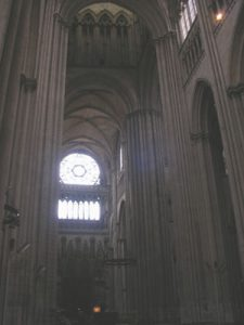 Transept of Rouen cathedral (France, 1200s AD)