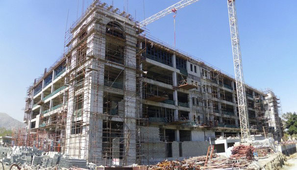 Another big boring building in Afghanistan - this one under construction