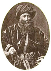 old photo of Yakub Beg, a Central Asian man with a beard