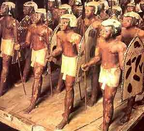 Soldiers from the 11th Dynasty (about 2000 BC)
