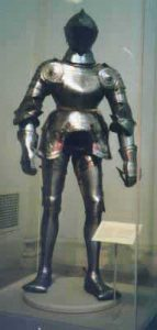 A suit of plate armor