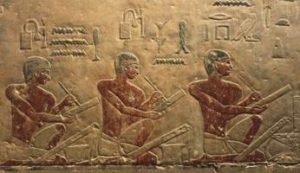 Egyptian scribes at Egyptian schools