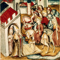 Kriemhild goes to marry Etzel of the Huns (1400s AD)