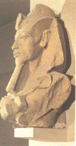 Stone statue of the Egyptian New Kingdom pharaoh Akhenaten