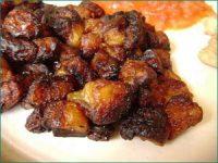 Aloco: brown mushy stew