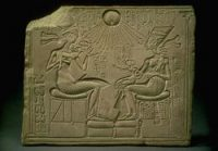 Akhenaten and Nefertiti and their daughters
