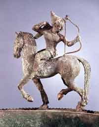 Etruscan image of a Scythian woman riding a horse, ca. 600 BCE