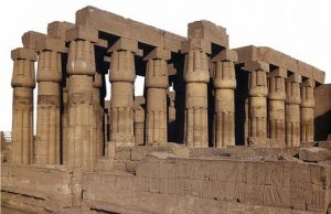 New Kingdom temple of Amon at Luxor: columns