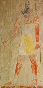 Anubis in the Temple of Queen Hatshepsut, Luxor (New Kingdom)