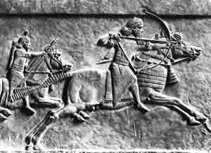 Assyrian archer on horseback, ca. 650 BC