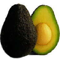 an avocado sliced in half to show the seed