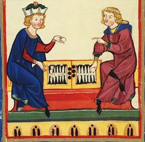 Backgammon from the 1300s AD (medieval Switzerland)
