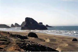 A sand beach in Oregon