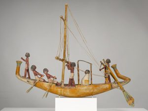Egyptian model of a boat