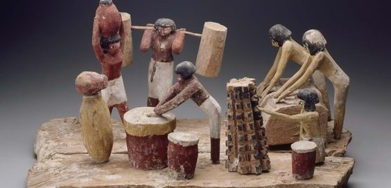 Ancient Egyptian model of a brewery. Museum of Fine Arts, Boston