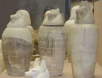 Canopic Jars from Egypt(Vatican Museum, Rome)