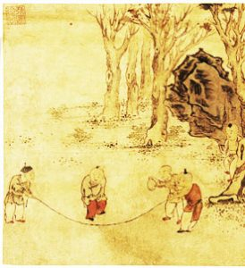 Chinese boys jump rope (Song Dynasty (?), ca. 1100 AD) - Ancient China games