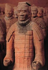 clay statues of Chinese soldiers