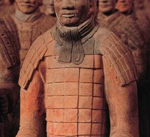 clay statues of men