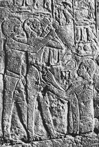 Egyptian medicine: boys being circumcised from the tomb of the Vizier Ankhmahor and his wife Mereruka Sixth Dynasty (Old Kingdom, ca. 2300 BC)
