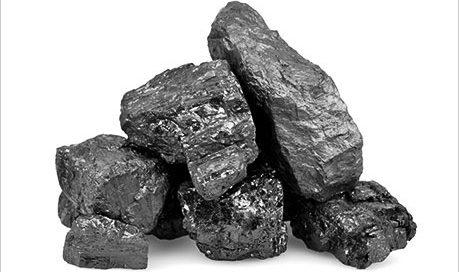lumps of coal - look like black rocks