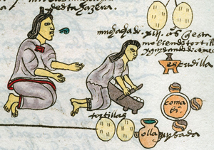 Aztec women making tortillas ca. 1520 AD